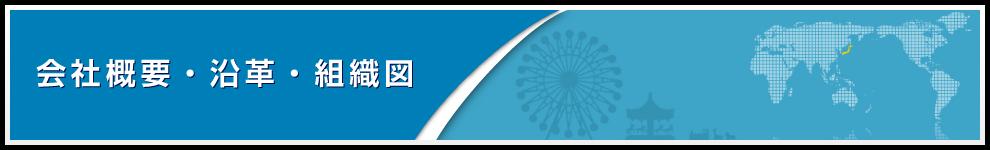 会社概要・沿革・組織図